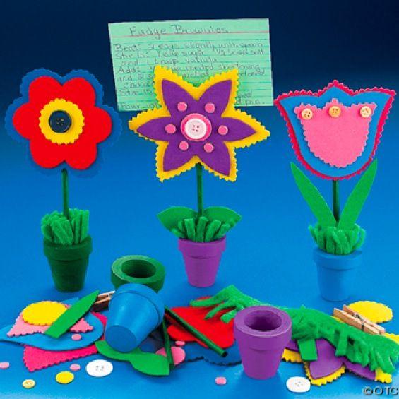Поделки из цветного картона цветочки