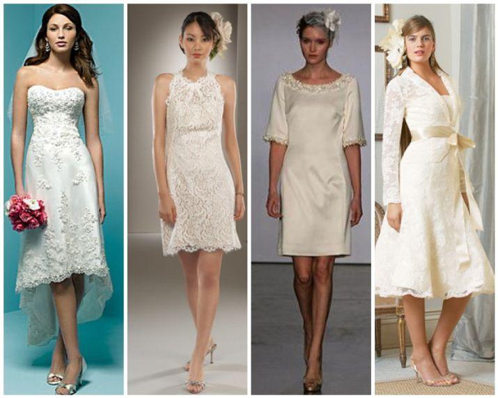 Свадебные платья разного фасона