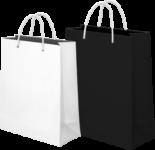 Использование бумажных пакетов с лого компании